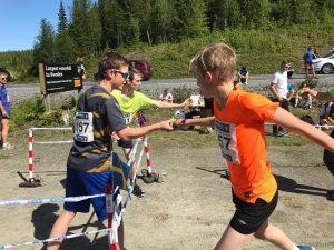Linus ferdig med sin debut. Godt løpt!